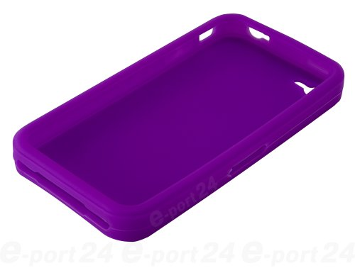 Flexible Silikon-Schutzhülle Bumper für Apple iPhone 4/4G/4GS hohe Qualität Stilvolle Made von E-port24® In-Colour Indigo Blau / Violett