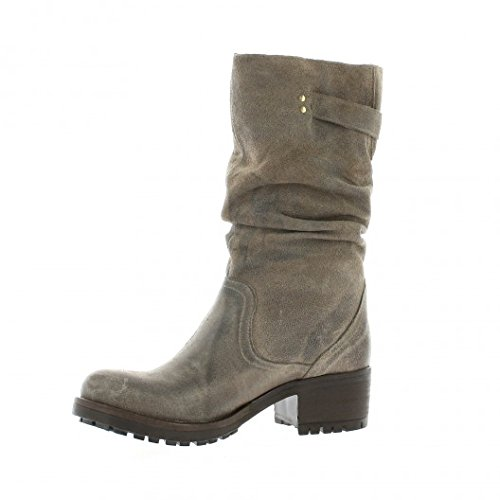 Pao Boots cuir velours taupe Taupe