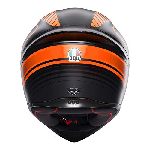 AGV Casco integrale K-1 MULTI Warmup ML Nero/Rosso