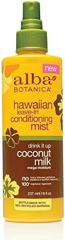 Alba Botanica Drink It Up Coconut Milk Hawaiian Leave-In Conditioning Mist, 8 oz.