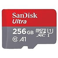 SanDisk 256GB Ultra microSDXC U1, C10, A1, UHS-1, 100MB/s R, 4x6, 10Y - SDSQUAR-256G-GN6MN