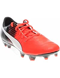 Puma Kids EvoPOWER 1. 3 FG Jr Soccer Little Kid/Big Kid Red Blast/Puma White/Puma Black Boys Shoes