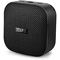 MIFA Mini Altavoz Portátil Bluetooth 4.2 Impermeable IP56 y Tecnología TWS, Anti-Polvo con 15 Horas Continua y Tarjeta de microSD, Micrófono Incorporado para iPhone, iPad, HuaWei, XiaoMi, Nexus, Huawei, Negro