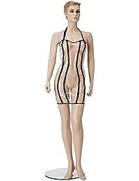 Fancy Fashion Mini Robe en Plastique Transparent Taille L