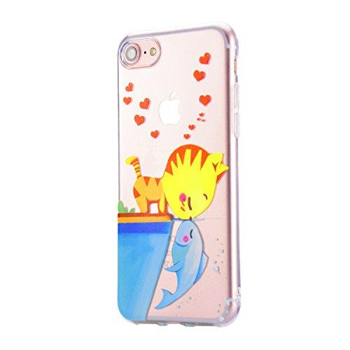 Coque iPhone 6S Plus, Sunroyal iPhone 6 Plus (5.5 pouces) Silicone Coque de Protection Transparente TPU Gel Souple Etui Housse Anti-choc Shock-Absorption Bumper Case Cover Premium Ultra-Mince Motif Im Motif 11