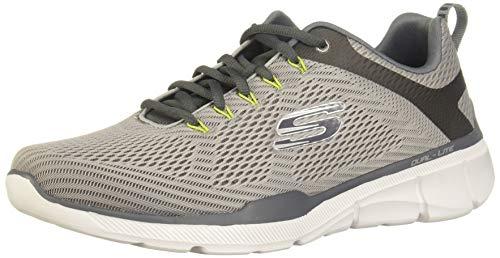 Skechers equalizer 3.0, scarpe sportive indoor uomo, grigio (grey/charcoal gycc), 40 eu