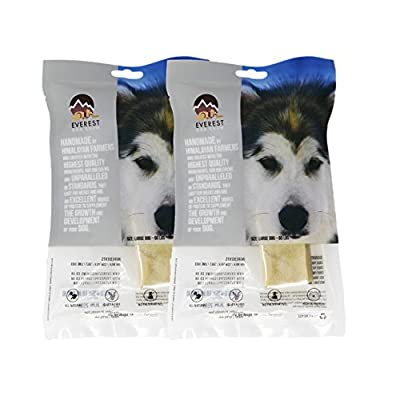 LARGE x 2 value pack, All Natural Everest Yak Chews (Large Dogs)