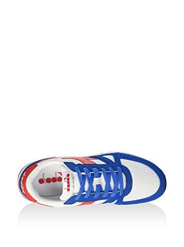 Diadora Run 90, Pompes à plateforme plate homme Blanc
