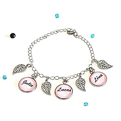 Bracelet prénom ou texte idée cadeau femme maman bijoux personnalisé