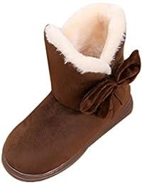Zapatos de Bebé,Ouneed ®Zapatos de bebé de moda zapatos calientes suaves zapatillas suela antideslizante (13, Café)
