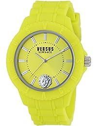 Reloj cuarzo Versus Para Unisex Con  Amarillo Analogico Y Amarillo Silicona SOY080016