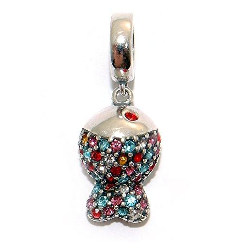 7939599c03c6 Charm 100% Plata de Ley 925 para pulseras para charms tipo Pandora,  Chamilia, Biagi, Swarovski. Abalorios beads dijes charm colgante plata  (PezCz)
