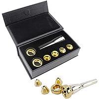 Boquilla de Trompeta Set, Boquilla de Trompeta Tubo Instrumento Accesorio Multiusos Musical Boquilla de Trompeta Set con Almacenamiento Caja - 1set