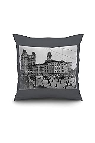 Brooklyn Borough Hall New York City, NY Photo (20x20 Spun Polyester Pillow Case, White Border)