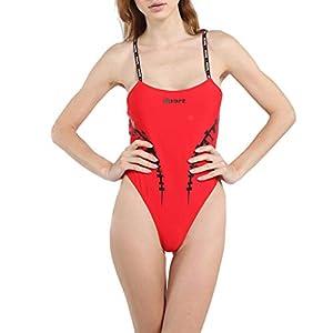 Bademode Damen Set High Waist One Piece Hohe Taille Einfarbig Verbindung Badeanzug Bikini