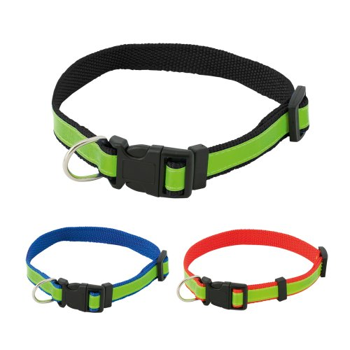 High-Visibility-Dog-Safety-Collar-Fluorescent-Reflective-Adjustable-Collar-Black