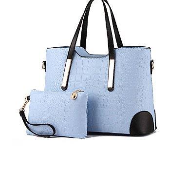Le donne in pelle di brevetto formale / Outdoor Tote,blu Light Blue