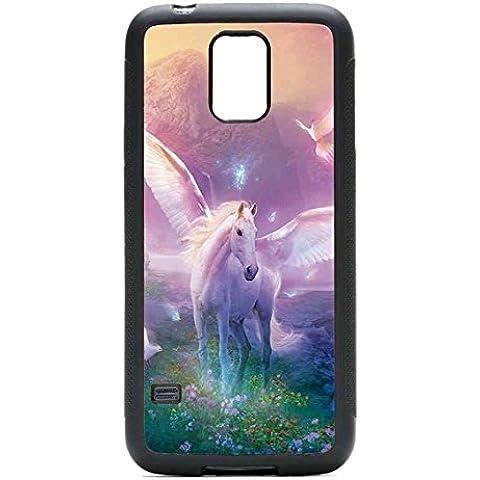 Cover Samsung Galaxy S5 Mini Custodia Cover Unicorn Horse Cartoon - Alluminio Horse Head