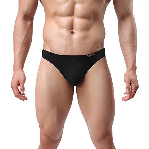 Avidlove 4er Pack, Slips Modal - seidenweich Unterhose short underwear Unterhosen Trunk Shorts Unterwäsche Slip Herren Männer- Gr. EU M, 4 x Schwarz