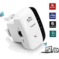 Aigital Mini N300 WiFi Extender Booster Wireless Repeater Range Extender Broadband Hotspot with Ethernet Port, WPS Function Portable AP/Repeater Mode- UK Plug