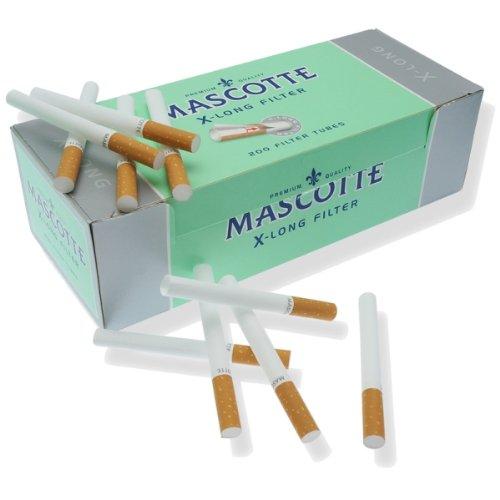 mascotte extralang Filter Zigarette Tubes 1000(5Boxen) von Trendz