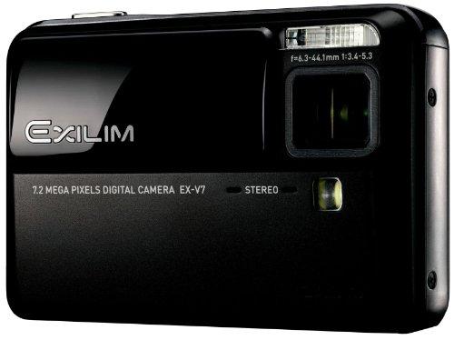 Casio EXILIM EX-V7 Digitalkamera (7 Megapixel, 7fach opt. Zoom, 6,4 cm (2,5 Zoll) Display, Bildstabilisator) schwarz