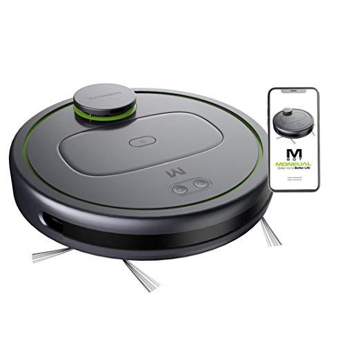 MONEUAL MBOT900 Premium Saugroboter, Laser, App & WLAN, 3 Stufen Saugleistung, Live-Karte, detaillierte Reinigungsplanung, selbstladend, 400ml Schmutzbehälter, 90min Laufzeit