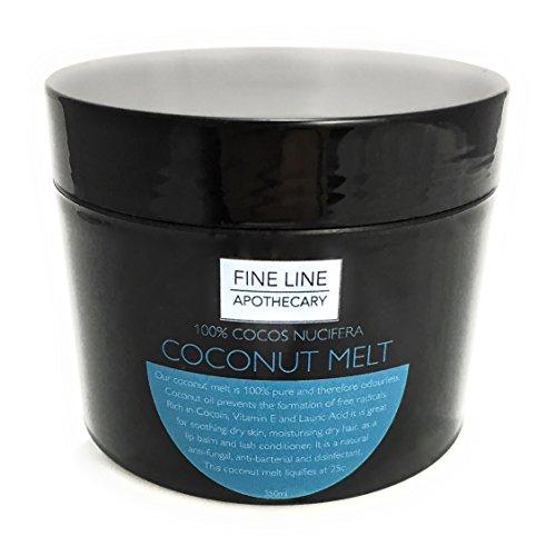 Coconut Melt-350ml-von Fine Line Apotheker. 100% PHARMACY GRADE, Premium, rein, kalt gepresst, Virgin, Kokosöl schmelzen. Ein luxuriöses Öl für Haut und Haar von höchster Qualität.