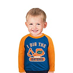 NCAA Florida Gators Boys Toddler Digger Raglan, 5 Tall, Royal