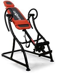 Klarfit Relax Zone Comfort Tabla de inversión 150kg (Espuma 5cm, altura ajustable 20 niveles, alivio hernia discal, dolor espalda, tension muscular, entrenamiento relajacion en casa, estructura acero)