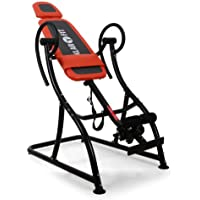 Klarfit Relax Zone Pro • Inversionsbank • Hang-Up-Rückentrainer • Rücken-Bank • zur Streckung der Wirbelsäule • bis 150 kg • verstellbar • orange-schwarz oder weiß-blau