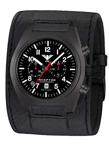 KHS Inceptor KHS.INCBSC.LK - Cronografo in acciaio con cinturino in pelle