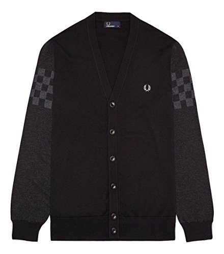 Fred Perry -  Cardigan  - Uomo Black Small