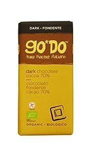 Barretta Cioccolato Fondente Biologico Go*Do Cacao (70%) - 2 x 85g - Prodotto Italiano