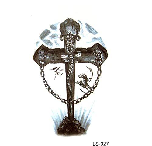 Ruofengpuzi l'uomo drago modello impermeabile autoadesivo provvisorio del tatuaggio di harajuku tattoo flash tatuaggio temporaneo croce uomo del tatuaggio