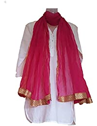 Skhoza Polyester Chiffon Plain Solid Dupatta For Women
