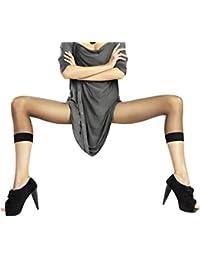 Marilyn halbtransparente 3/4 Leggings mit verstärkten Abschluß. Ihr must-have vielseitig kombinierbar, 40 Denier