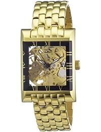 Pierre Chaubert HEWM1008 IPG - Reloj analógico automático unisex, correa de acero inoxidable chapado color dorado