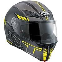 AGV Casco de Moto Compact ST E2205 Multi plk, Seattle negro mate/plateado/