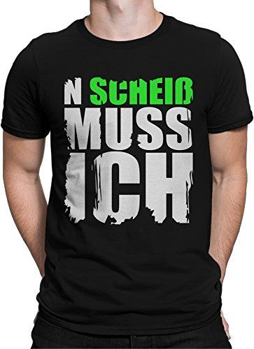 vanVerden Unisex T-Shirt XS-5XL N Scheiß muss Ich Lustiger Spruch, Color Neon Grün, Größe:L (Lustiges T-shirt Grünes)