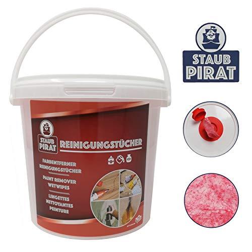 Staub Pirat Feuchte Farbentferner Reinigungstücher - für Farbrestentfernung, Malerbetriebe und Haushalt - 70 Stück à 310mm x 270mm