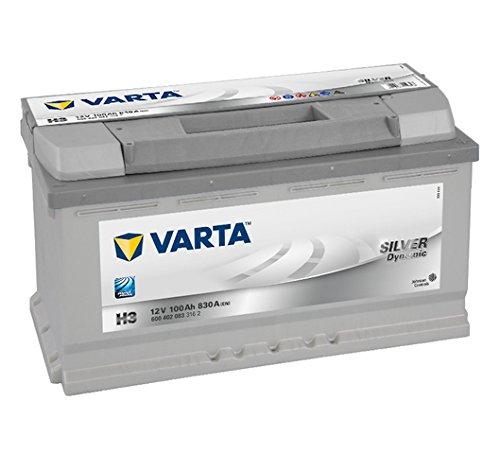 Varta H3 Silver Dynamic Batteria avviamento 6004020833162, 12V 100 Ah 830A, 175 mm x 353 mm x 190 mm