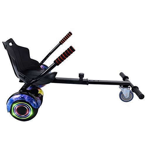 LMEI-HBSITZ Hoverboard Mit Sitz, 8-Gang-Verstellbares Elektro-Scooter-Kart-ZubehöR FüR Alle Selbstausgleichenden Hoverboard-Scooter (6,5-10 Zoll) / Kinder Und Erwachsene