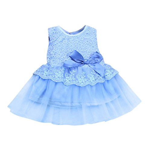 baceb001e3f1 Viahwyt 2018 NEWEST Newborn Infant Toddler Kids Children Baby Girls Clothing  Sleeveless Floral Lace Bowknot Solid Evening Dress Pageant Birthday Party  ...
