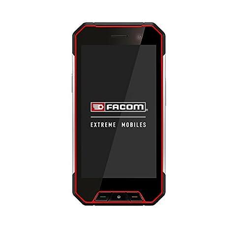 Facom F400 Smartphone durci débloqué 4G/Wifi (Ecran : 4,7 pouces HD Gorilla Glass - Double SIM - IP68 - Android) Noir/Rouge [Pour les Professionnels]