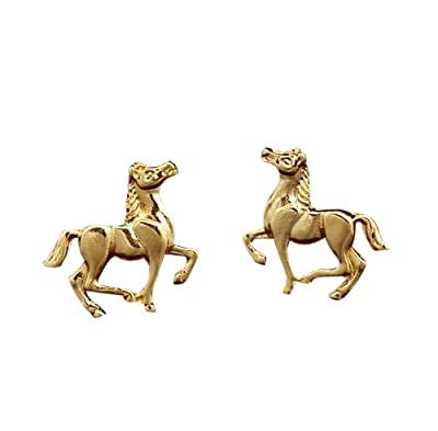 Veuer 1 Pair Cute Horse Earring Girls Jewelry Women Girl Horse Ear Ring