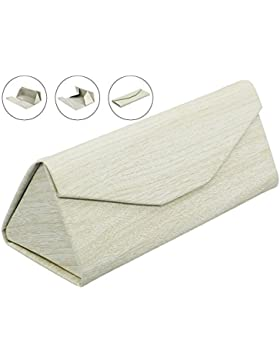 lucklystar® Custodia per occhiali da sole Custodia per occhiali pieghevole a forma di Creative triangolare scatola...