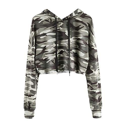 Kuh Mädchen Tanz Kostüm - TWIFER Kapuzenpullover Hoodie Camouflage Sweatshirt Damen Langarm Pullover