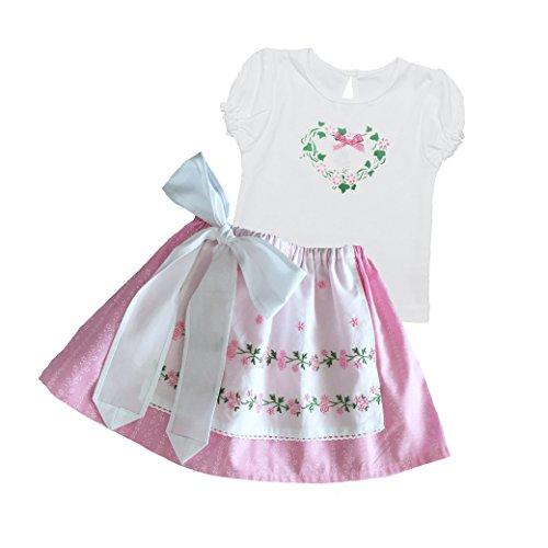 Märchenwerkstatt Babydirndl 2-teilig mit Shirt und Rock Mein erstes Dirndl Schneewittchen Größe 12-24 Monate