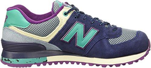 New Balance Damen Wl574tsy Sneakers Blau/Türkis/Weiß